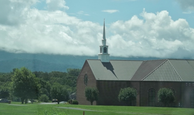 God's scenic creations and a house designated for Him! Love it!
