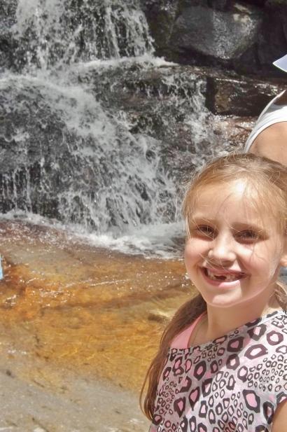 My little sister, Alyssa. Beautiful scenery and a beautiful little girl :)